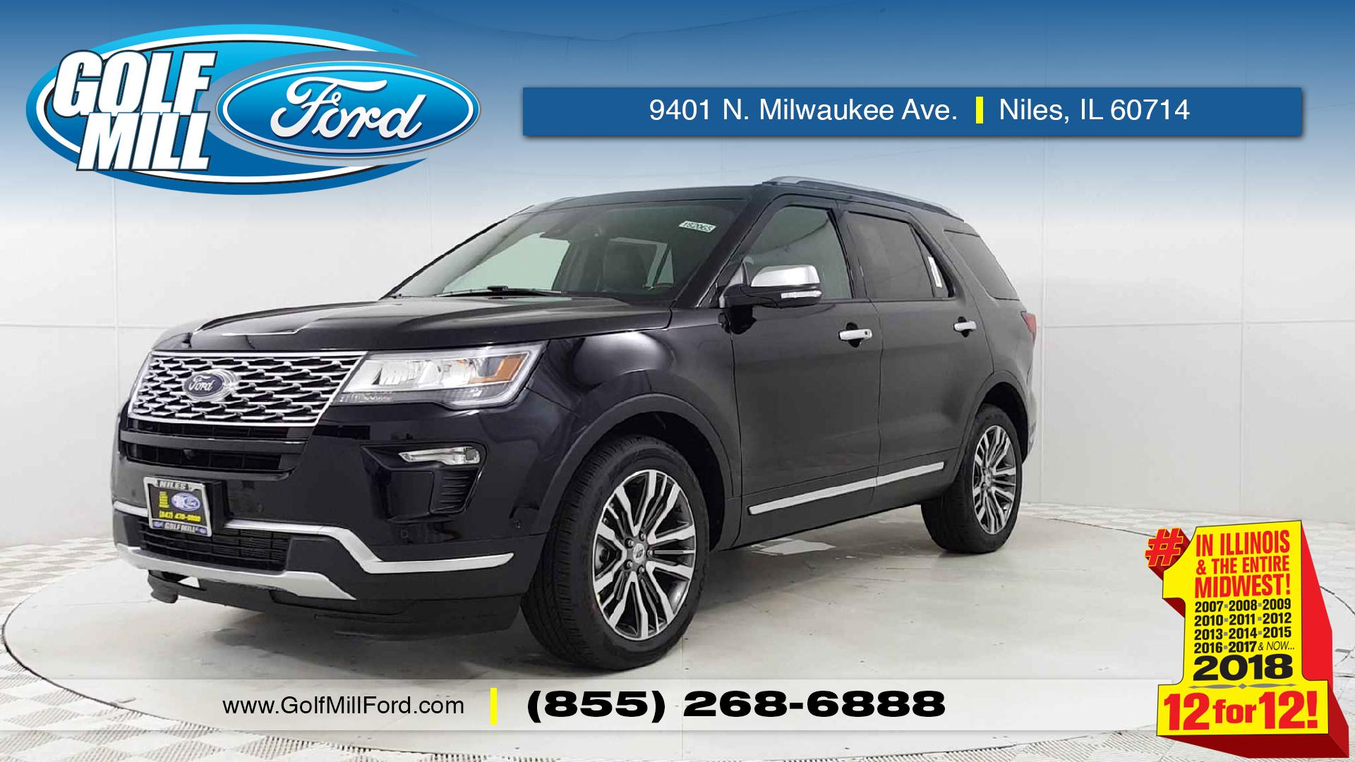 New 2018 Ford Explorer Platinum In Niles Il Golf Mill 2007 Fusion Wiring Diagram As Well Focus Engine Partment 1