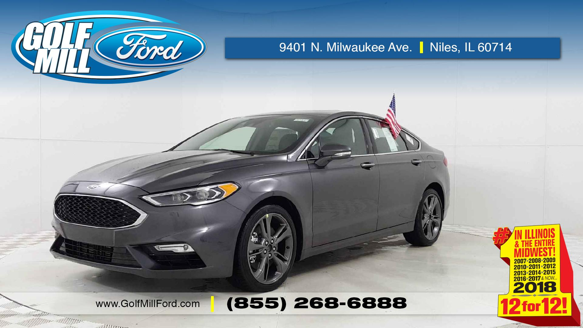 New 2018 Ford Fusion Sport In Niles Il Golf Mill Airbag Wiring Diagram 2009 1