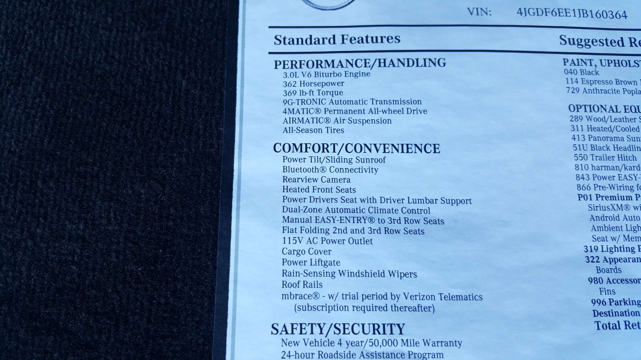 New 2018 Mercedes Benz Gls 450 Suv In Irondale M160364 Airmatic Wiring 45
